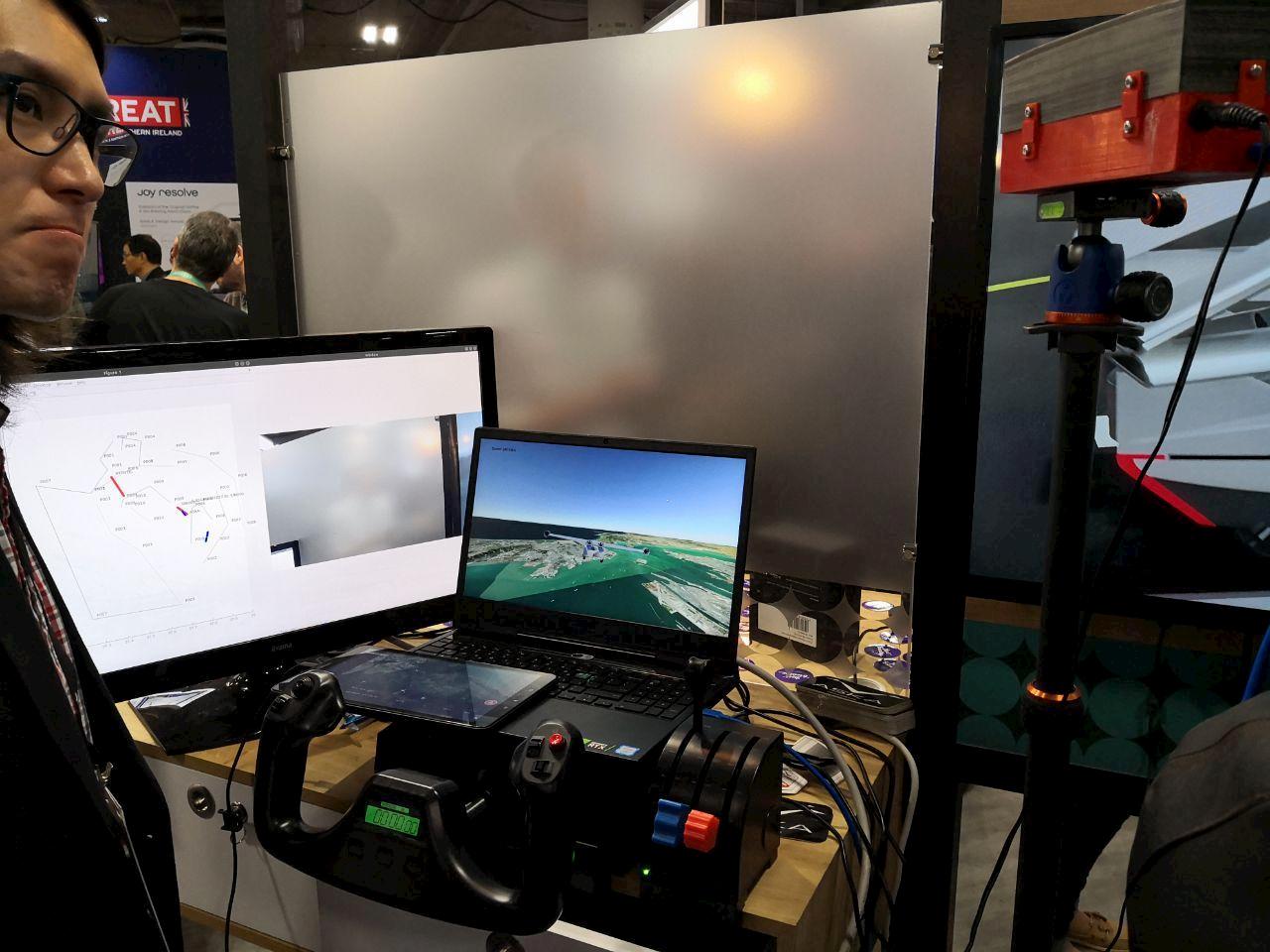 Aska auto volante simulatore