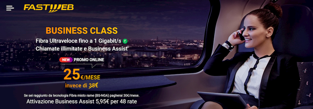 Fastweb Business Class offerte business fissa mobile