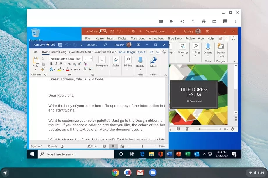 parallels desktop chromebook windows app