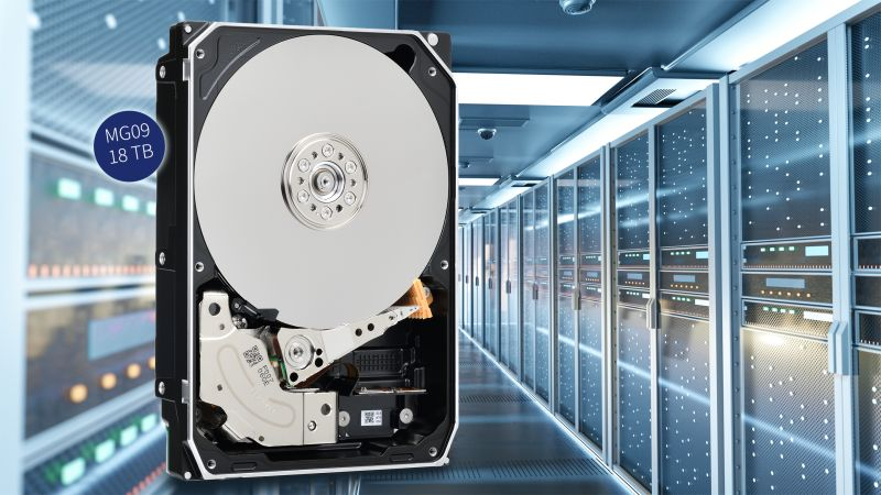 Toshiba svela un disco rigido della serie MG09 da 18TB thumbnail