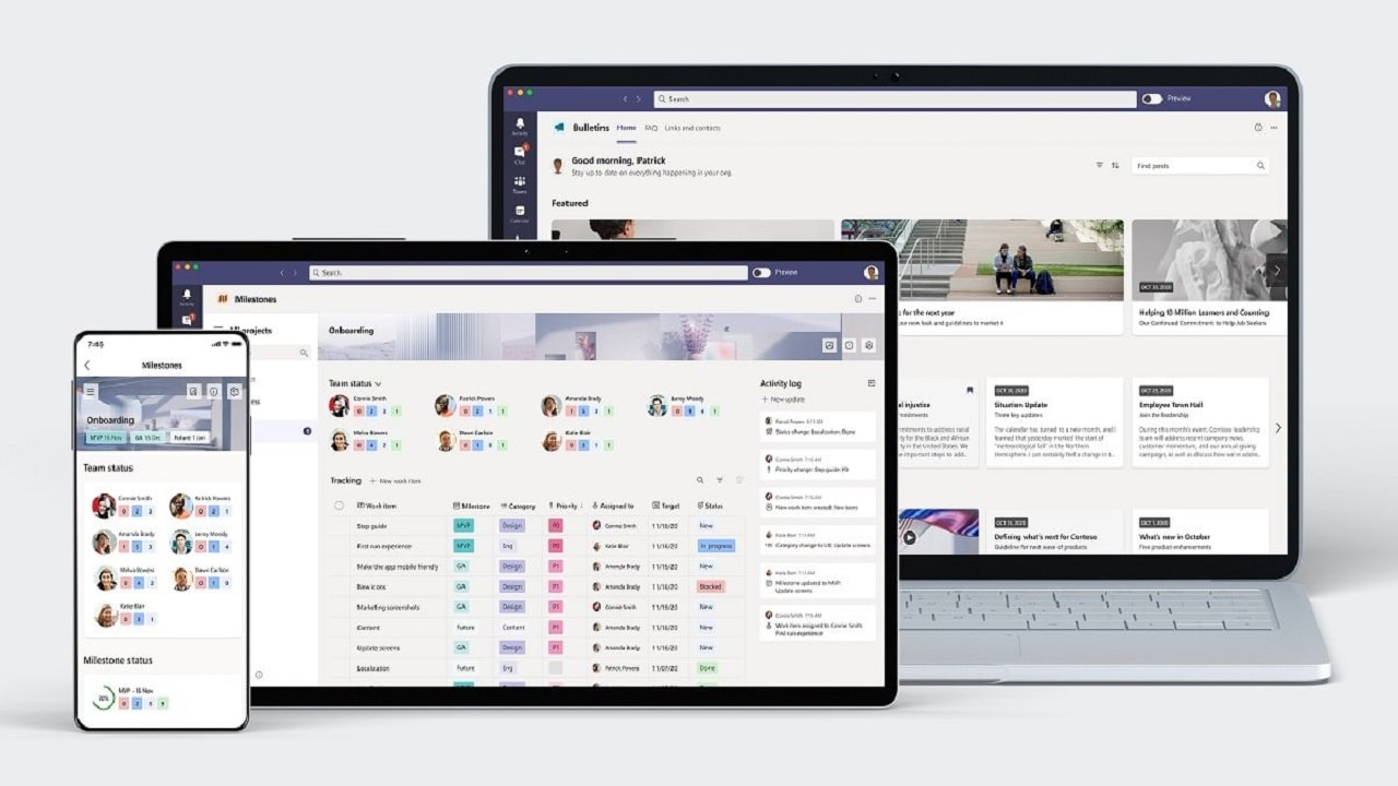 Microsoft annuncia due nuove app per Teams: Bulletins e Milestones thumbnail