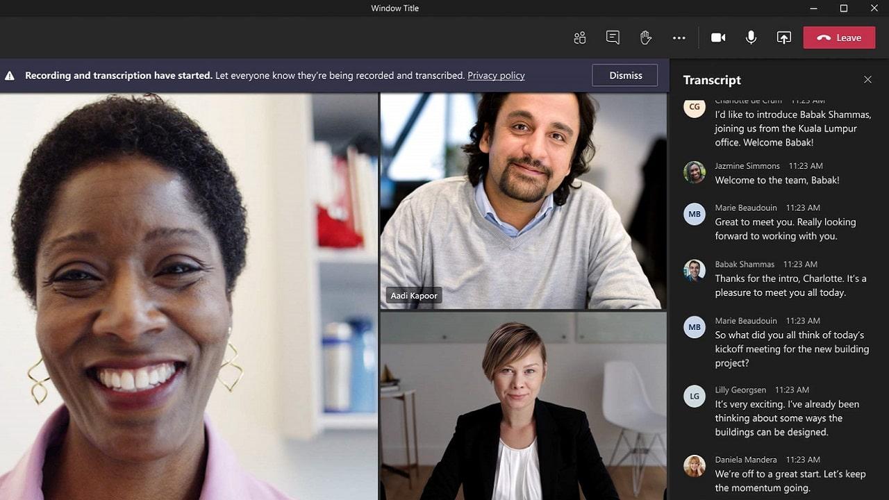 Microsoft Teams lancia la trascrizione dal vivo del parlato thumbnail
