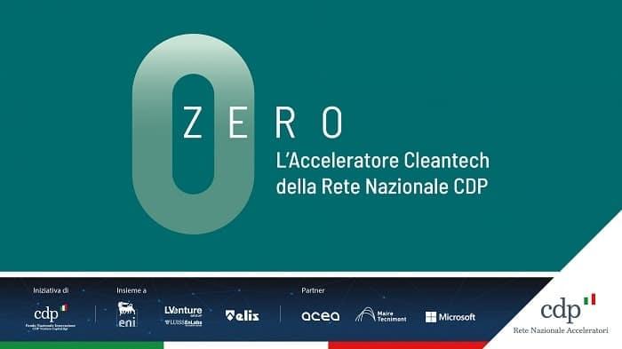 Zero acceleratore startup cleantech pmi innovative
