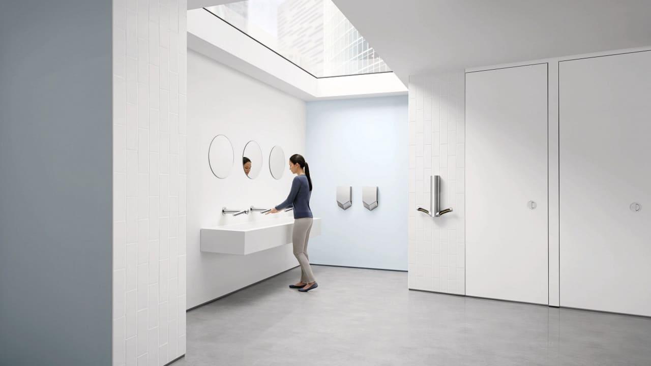 Asciugamani Dyson Airblade con tecnologia touch-free: per un ufficio più sicuro thumbnail