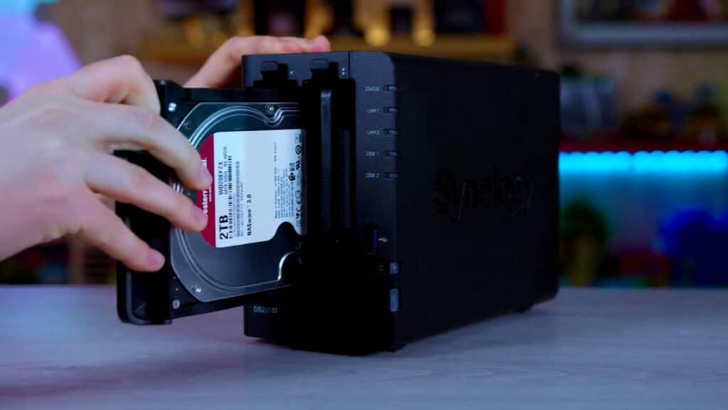 Synology DiskStation DS220+ hard disk
