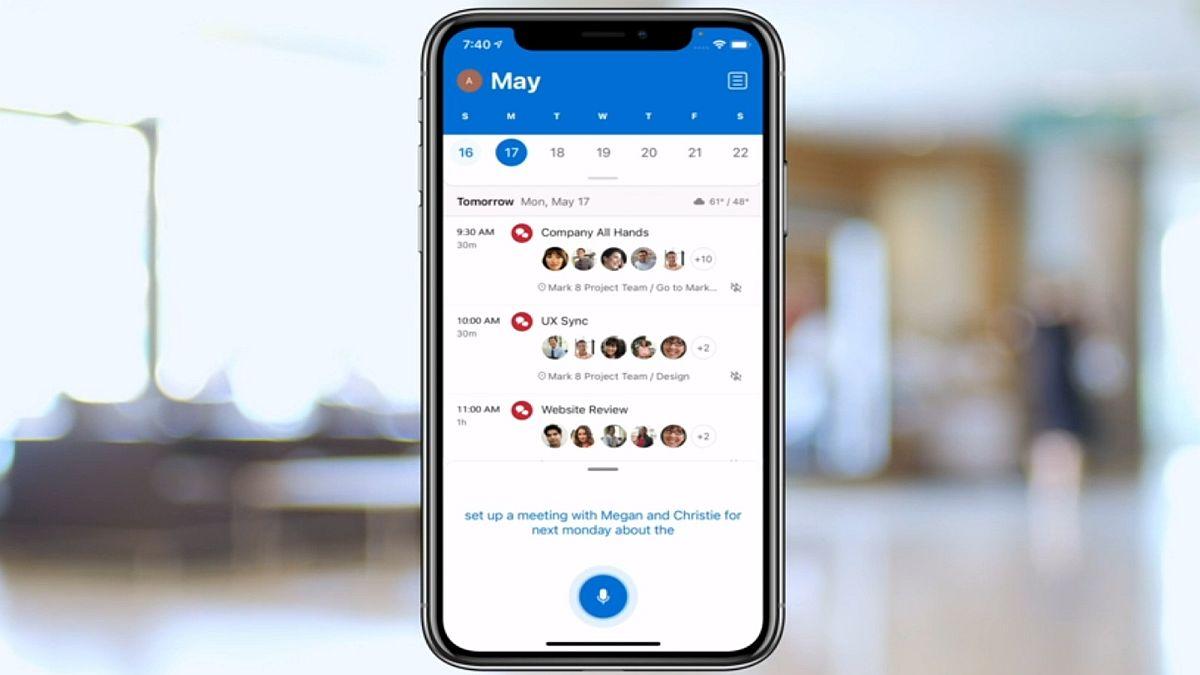 Microsoft Outlook per iOS aggiunge la dettatura per e-mail, eventi e ricerca thumbnail